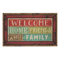 "Family & Friends Welcome Rubber Mats, 18"" x 30"""