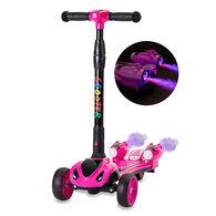 GlareWheel ES-Y1 Kids Rocket Scooter, Pink