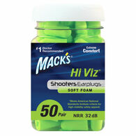 Mack's Shooters Hi Viz Soft Foam Ear Plugs, 50-Pack