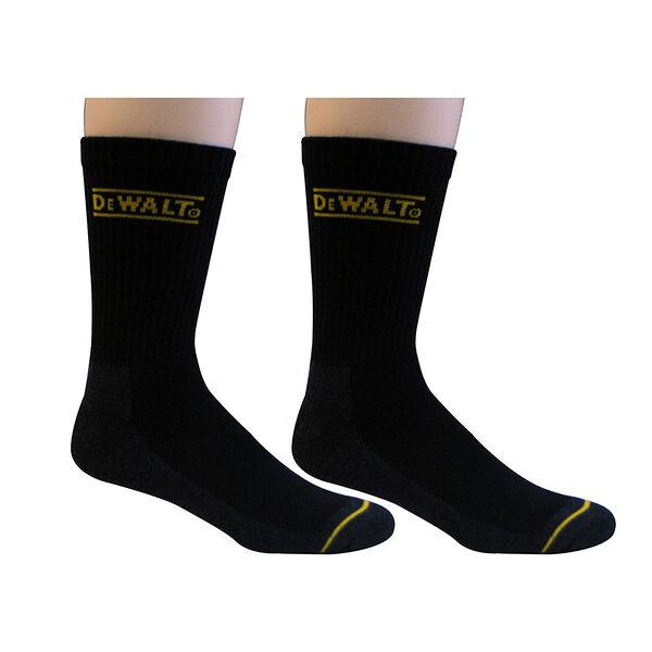 DeWalt Men's Everyday Work Sock, Black