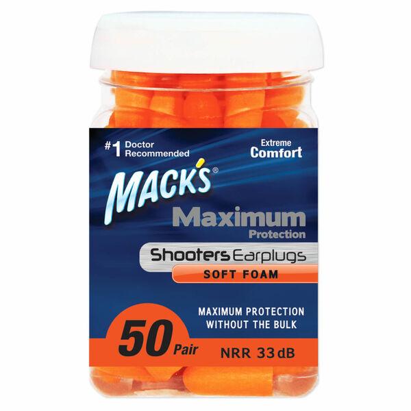 Mack's Shooters Maximum Protection Soft Foam Ear Plugs, 50-Pack