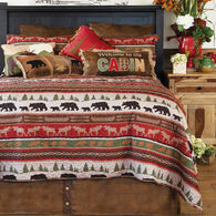 Cabin and Lodge Stripe 3-piece King Quilt Set