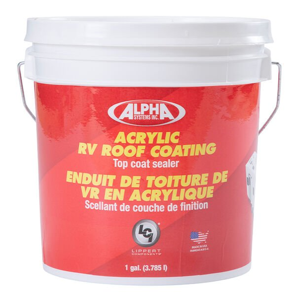 Alpha Systems 4034 Acrylic RV Roof Coating, White, 1 Gallon