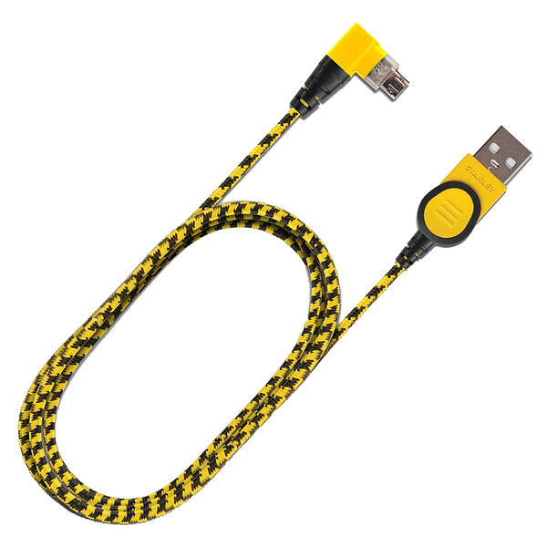 Stanley Braided Reversible 90° Micro Lightning Cable, 4 Ft.