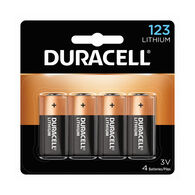 Duracell Ultra Lithium DL123A Batteries, 4-Pack