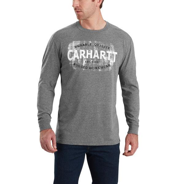 Carhartt Men's Maddock Rugged Workwear Logo Graphic Long-Sleeve Tee