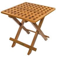 Whitecap Teak Grate Top Fold-Away Table