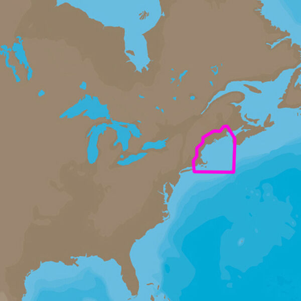 C-MAP 4D NA-D939 Cartography, Passamaquoddy Bay To Block Island