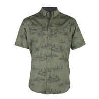 Reel Obsession Men's Lakeshore Short-Sleeve Woven Shirt