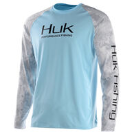 Huk Men's Performance Camo Raglan Vented Long-Sleeve Tee