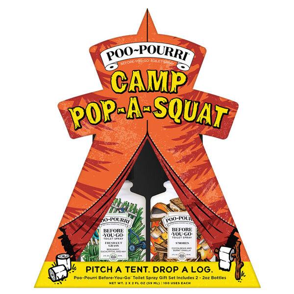 Poo-Pourri Camp Pop-A-Squat Toilet Spray Gift Set, Two 2-oz. Bottles