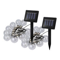 """Solar Powered 64"""" LED String Lights, 2 Pack"""