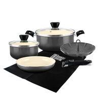 Robert Irvine 8-Piece Cookware Set, Black