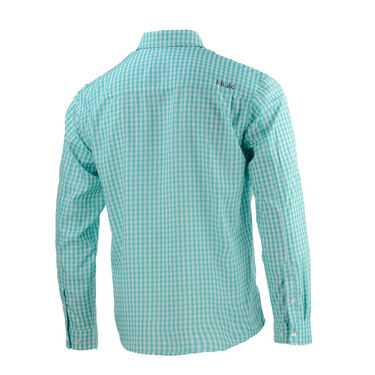 HUK Men's Tide Point Woven Plaid Long-Sleeve Shirt