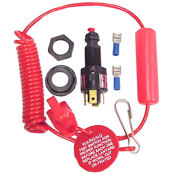 SeaStar Solutions Cut-Off Switch With Coiled Lanyard