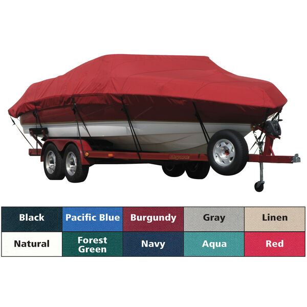 Sunbrella Exact-Fit Cover - Chaparral 210 SS/SSI BR I/O covers extended platform