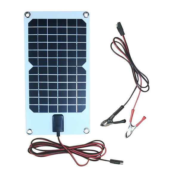 8 Watt Semi-Flex Crystalline Solar Panel and 12 Volt Battery Maintainer