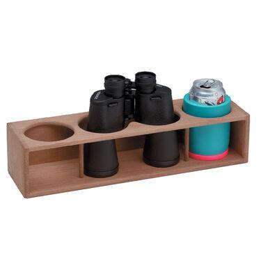 Whitecap Teak Teak Four Insulated Drink/Binocular Rack