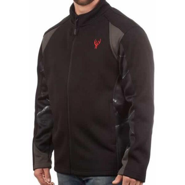 Huntworth Men's Blackout Camo Softshell Jacket