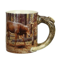 Rivers Edge Deluxe Mug Deer Scene