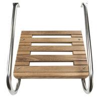 Whitecap Teak Swim Platform With Dual Handrails