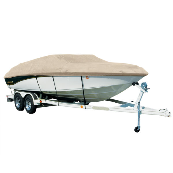 Exact Fit Sharkskin Boat Cover For Sea Ray 240 Sundancer W/No Anchor Davit