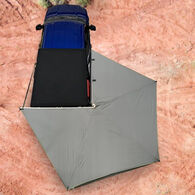 Overland Vehicle Systems Nomadic 270 LT Awning with Wall 1, 2, and Mounting Brackets, Passenger Side, Dark Gray