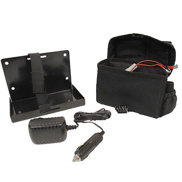 Clam Battery Bag with Charger and Bracket