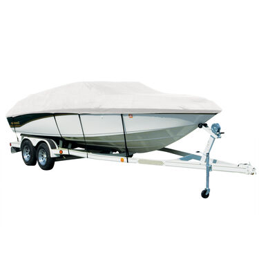 Covermate Sharkskin Plus Exact-Fit Cover for Princecraft Sport Fisher 20  Sport Fisher 20 Seats & Bimini Aft Laid Down O/B