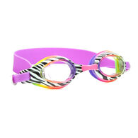Aqua2ude Swim Goggles, Zebra