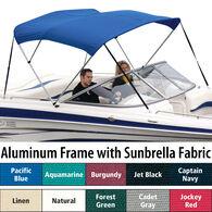 """Shademate Sunbrella 3-Bow Bimini Top, 6'L x 46""""H, 79""""-84"""" Wide"""
