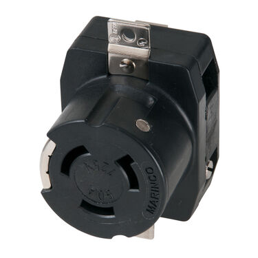 Marinco Single Receptacle, 125V