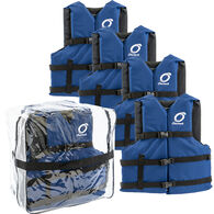 Universal Adult Life Jackets 4-Pack, Blue