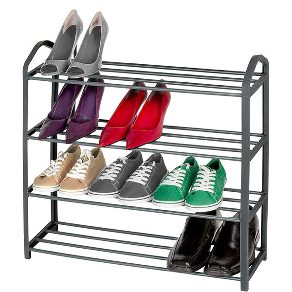 Smart Design 4-Tier Shoe Rack
