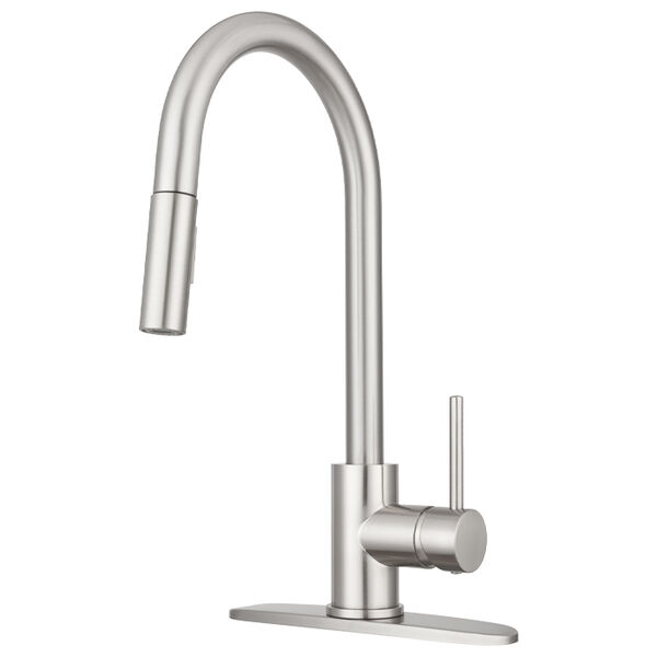 Dura Faucet Streamline Pull-Down Kitchen Sink Faucet, Satin Nickel