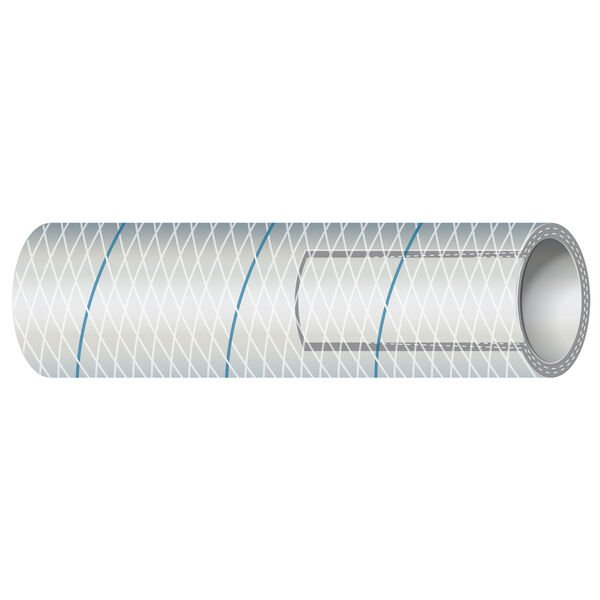 """Shields 5/8"""" Polyester-Reinforced Blue-Tracer Tubing, 10'L"""