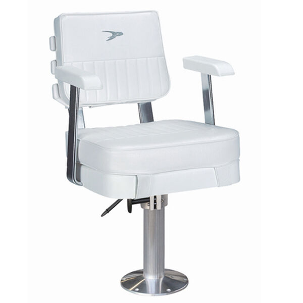 "Wise Ladder Back Helm Chair w/15"" Fixed Pedestal and Seat Slide"