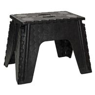 "E-Z Foldz Folding Step Stool, 12"" - Black"