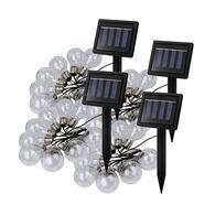 """Solar Powered 64"""" LED String Lights, 4 Pack"""