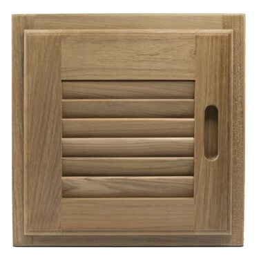 "Whitecap Teak Teak 12"" x 12"" Louvered Door & Frame, Right-Hand Opening"