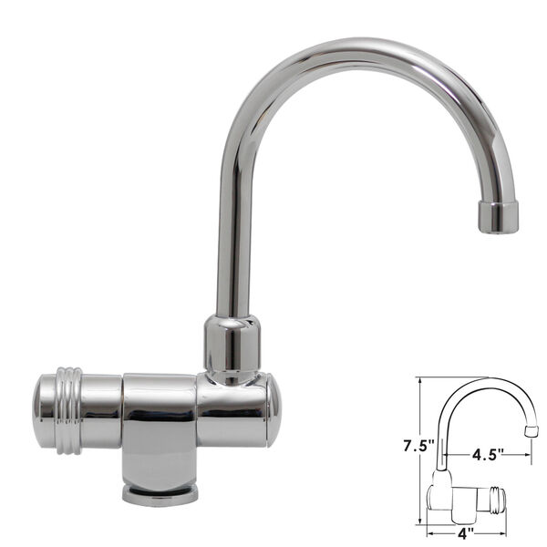 "ITC Fold-Down Bar/Cockpit Faucet, 7.5""H"