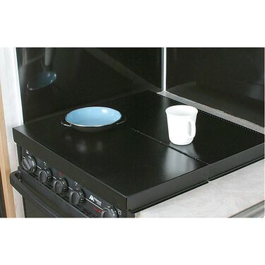 Camco RV Universal Fit Black Stove Top Cover