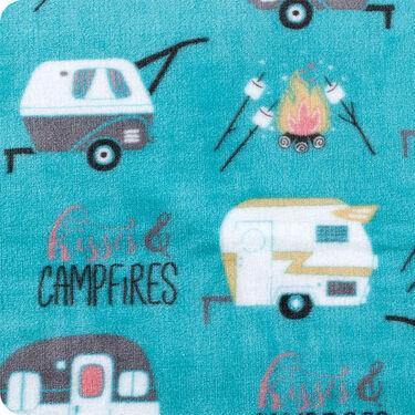 """Kisses & Campfires"" Throw, 55"" x 70"", Blue"