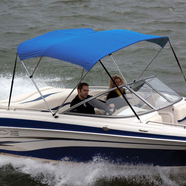 Shademate Polyester Stainless 3-Bow Bimini Top 6'L x 46''H 67''-72'' Wide
