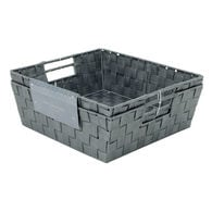 Lincoln Home Collection Woven Strap Storage Bins, 2-Piece Set, Light Gray