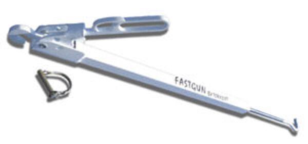 """Fast Gun """"Long Range"""" for Bumper or Frame Tie Downs, Gray"""