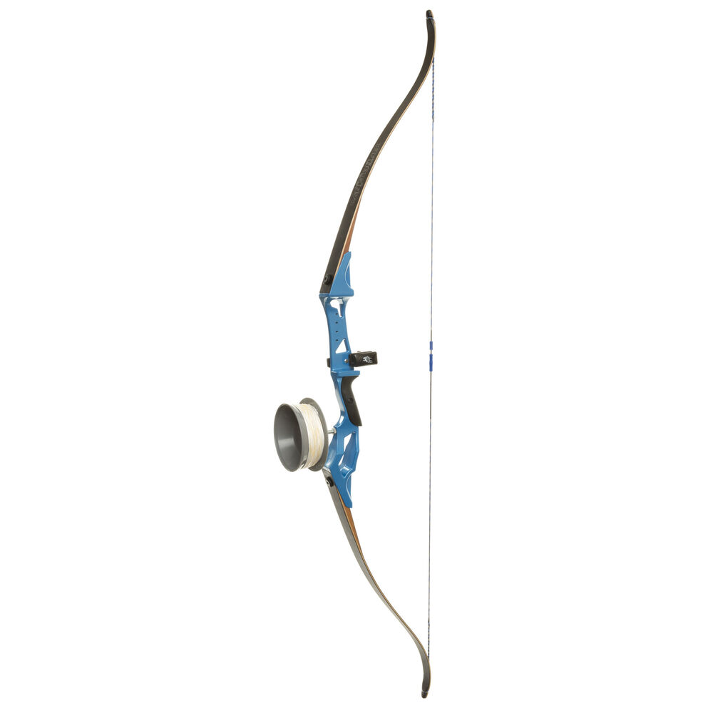 Fin-Finder Bank Runner Bowfishing Recurve Bow Package, Blue, 58