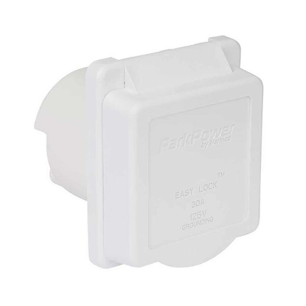 Weekender by ParkPower Electrical Inlet, 30 Amp White Inlet