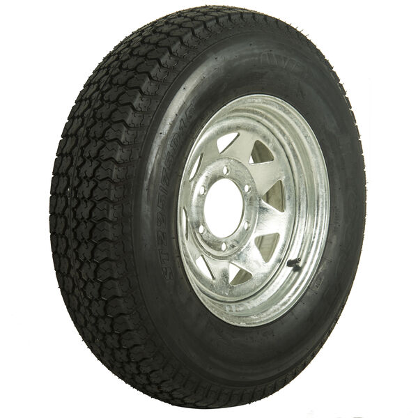 Kenda Loadstar 225/75 x 15 Bias Trailer Tire w/6-Lug Galvanized Spoke Rim