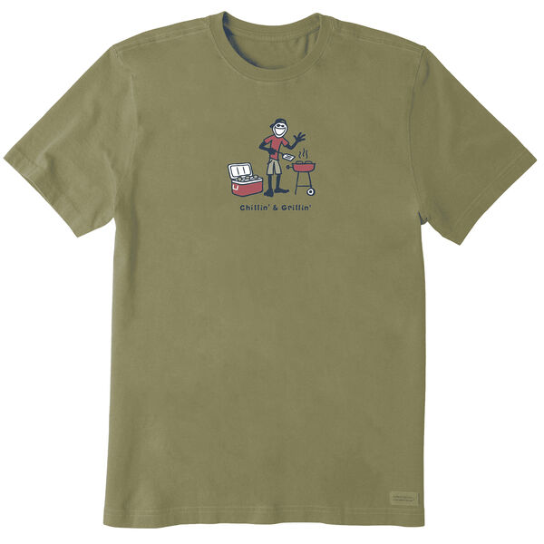 Life Is Good Men's Grill Jake Vintage Crusher T-Shirt